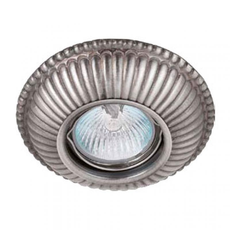 Светильник встраиваемый 043B, классика серебро Испания