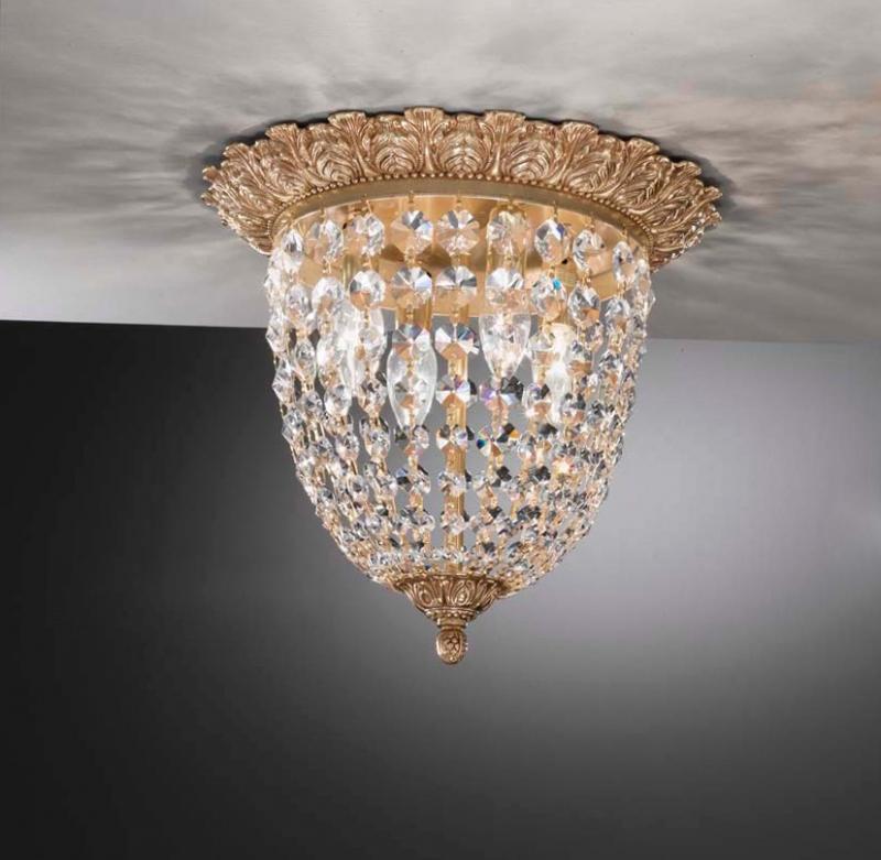 Люстра хрустальная классическая, состаренное серебро, Италия