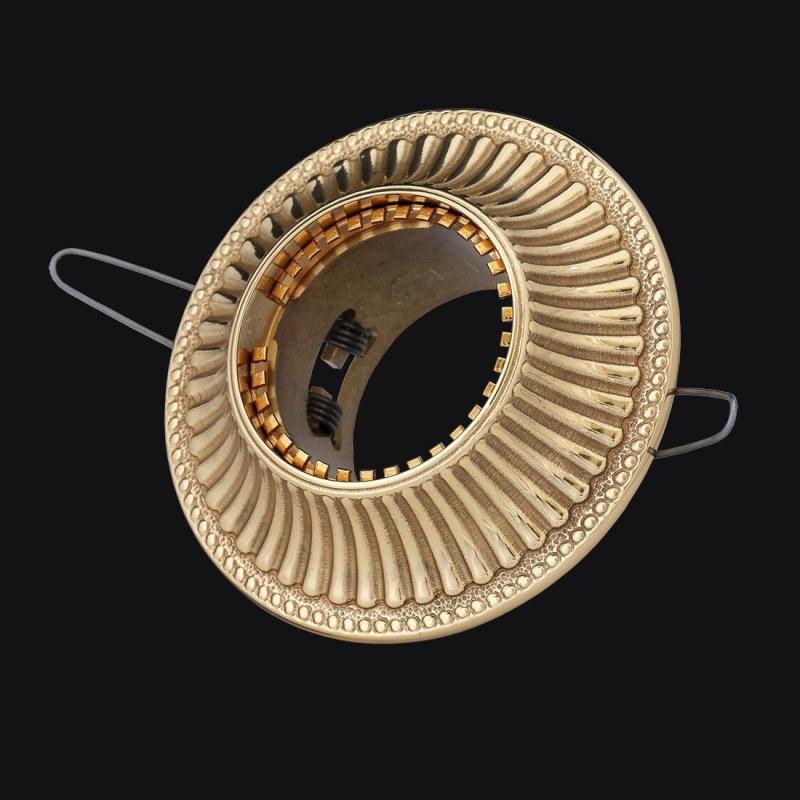 Встраиваемый светильник круглый, золото