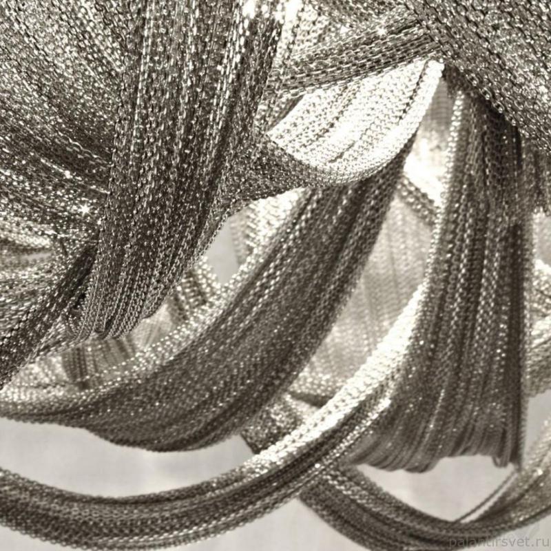 Люстра с цепочками из никеля, Италия