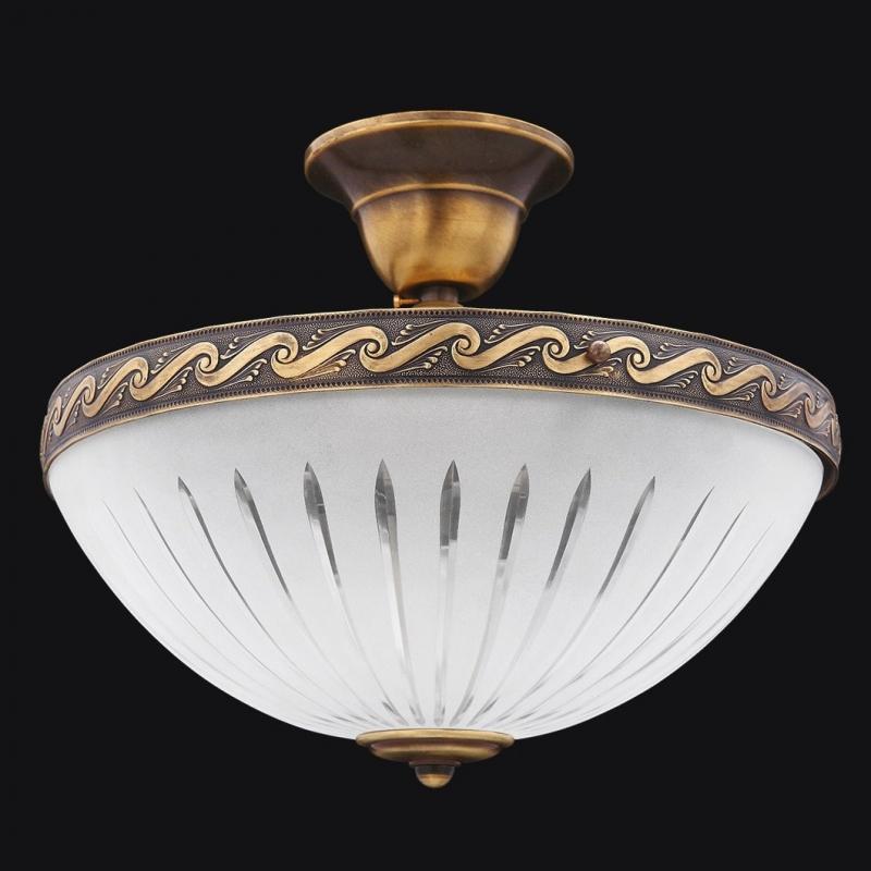 Потолочный светильник классика, бронза, Италия