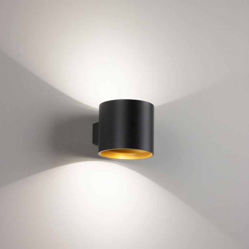Светодиодный настенный светильник, черный матовый/золото