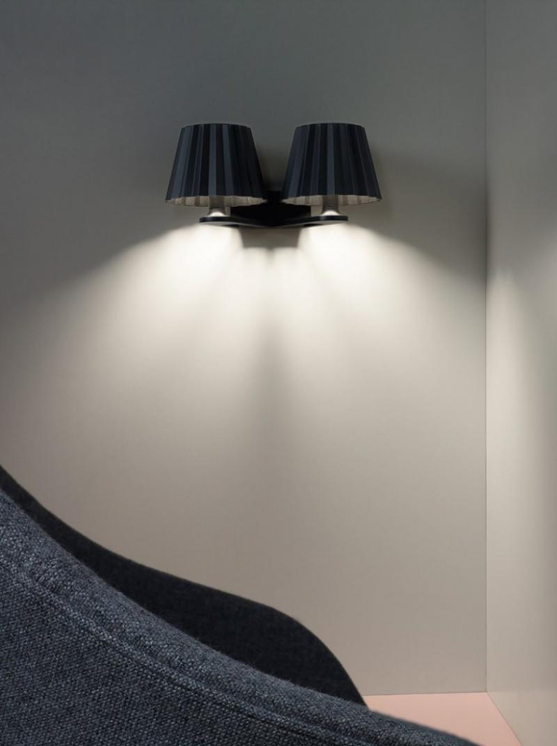 Настенный накладной светильник BUTLER W D 930 DOWN-UP DIM8 B