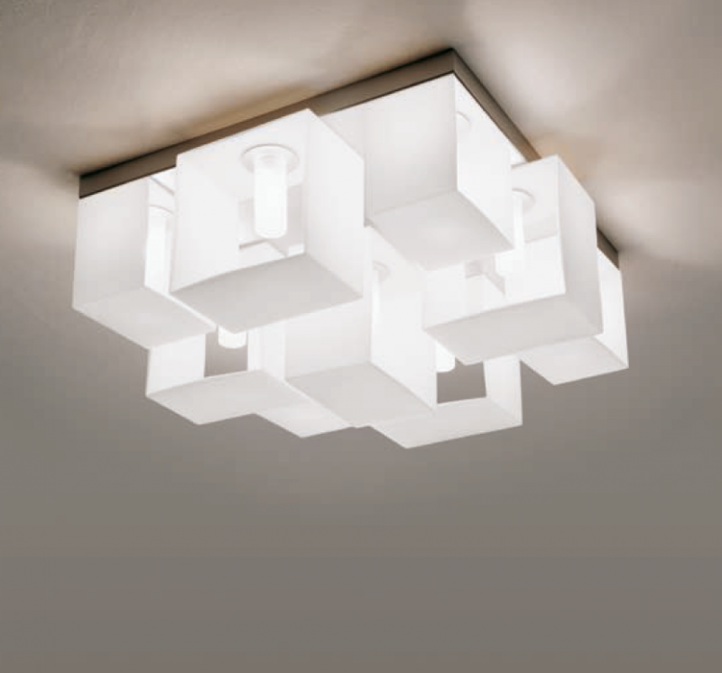 Потолочный/универсальный светильник, черно-белый