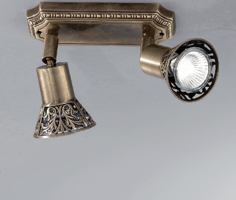 Светильник потолочный/настенный F2 GOLD BRONZA