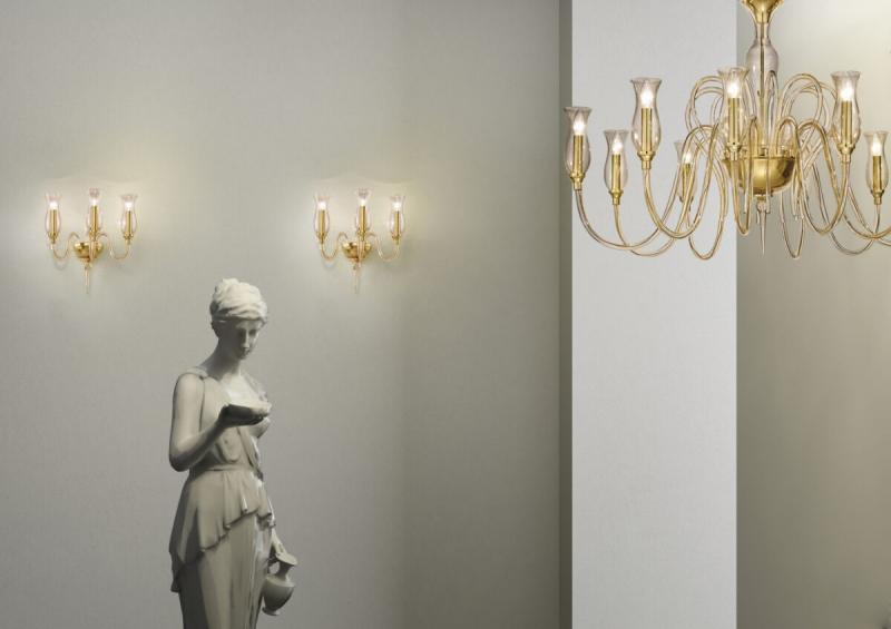 Люстра дизайнерская, муранское стекло, Италия