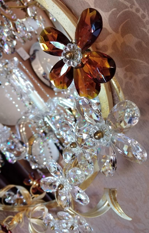 Настенное зеркало декор цветы