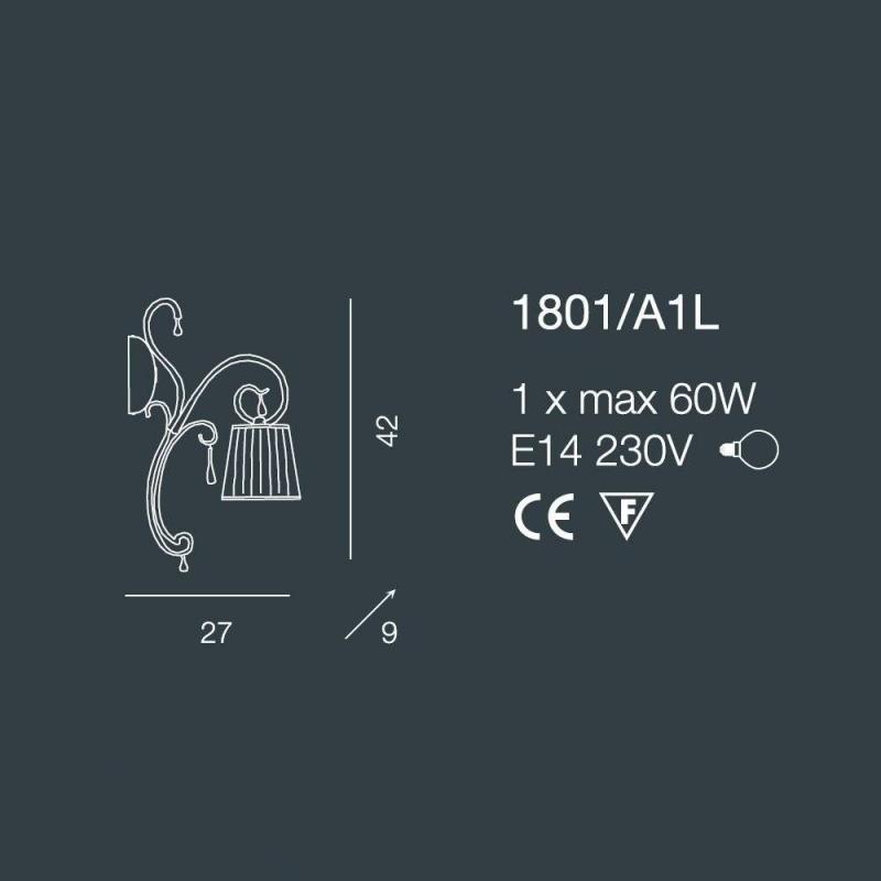Бра 1801/A1L