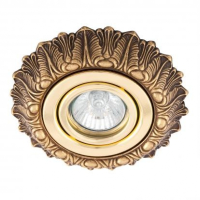 Светильник встраиваемый 043D, классика золото Испания
