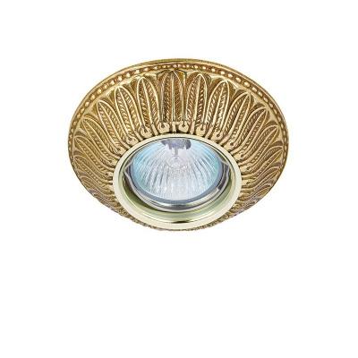 Светильник встраиваемый, классика золото