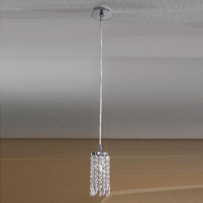 Подвесной светильник классический, хром, хрусталь, Австрия