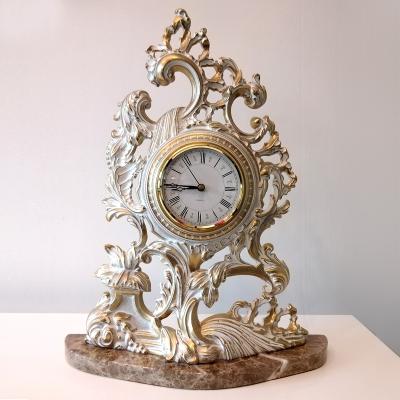 Часы настольные под старину, цвет слоновой кости