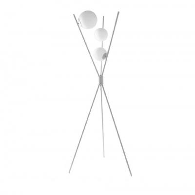 Торшер с тремя плафонами, металл, стекло