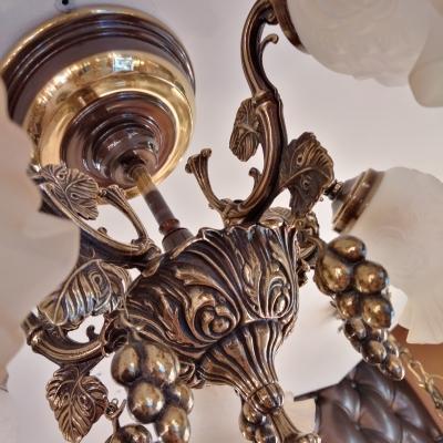 Люстра потолочная, классика бронза