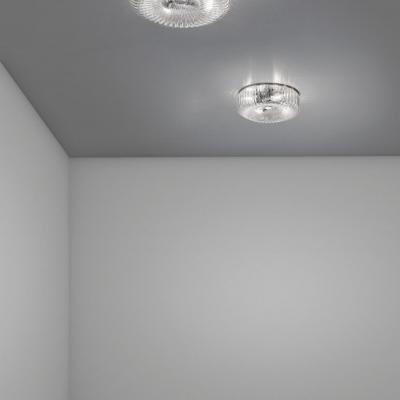 Настенно-потолочный светильник Sylcom, круглый, хром, стекло мурано