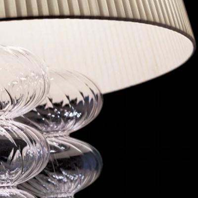 Подвесной светильник с текстильным абажуром, Италия